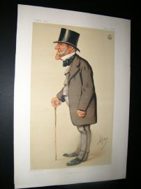 Vanity Fair Print 1875 Lord Hammond, Ape Lithograph